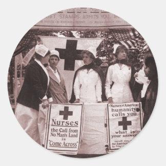Nurses Recruitment Station WWI Round Sticker