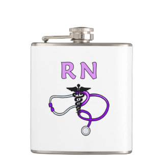 Nurses RN Stethoscope Hip Flask