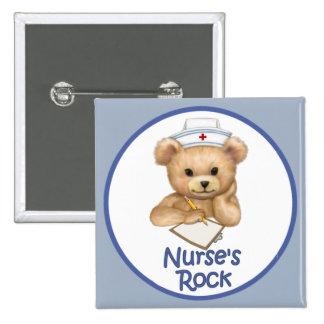 Nurse's Rock 15 Cm Square Badge