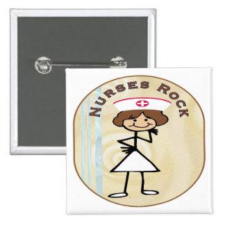 Nurses Rock 15 Cm Square Badge