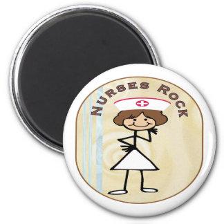 Nurses Rock 6 Cm Round Magnet