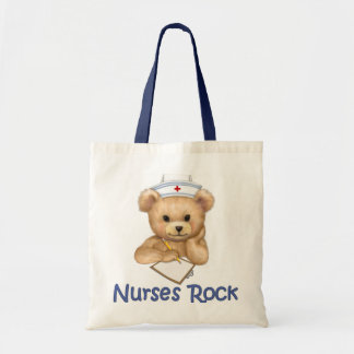 Nurses Rock Budget Tote Bag