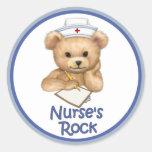 Nurse's Rock Classic Round Sticker