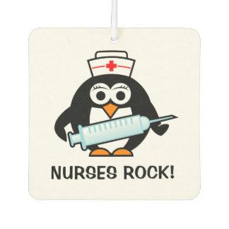Nurses Rock cute nursing penguin car air freshener