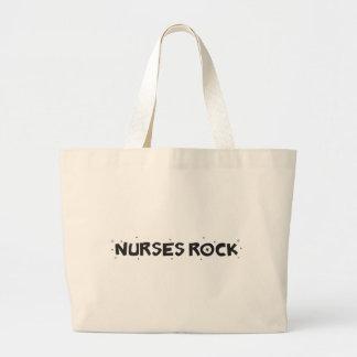 nurses rock jumbo tote bag