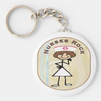 Nurses Rock Key Ring