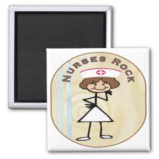 Nurses Rock Refrigerator Magnets