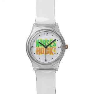 Nurses Rock, Orange/Green Fun Nurse Watch