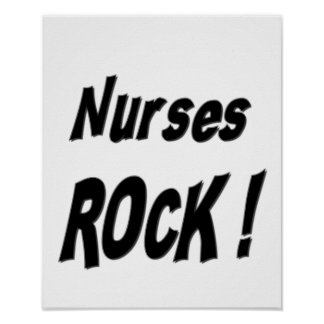 Nurses Rock! Poster Print