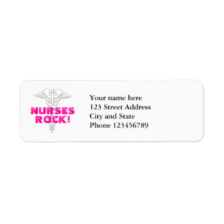 Nurses Rock! Return label address