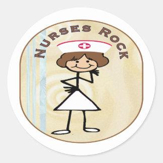 Nurses Rock Round Sticker