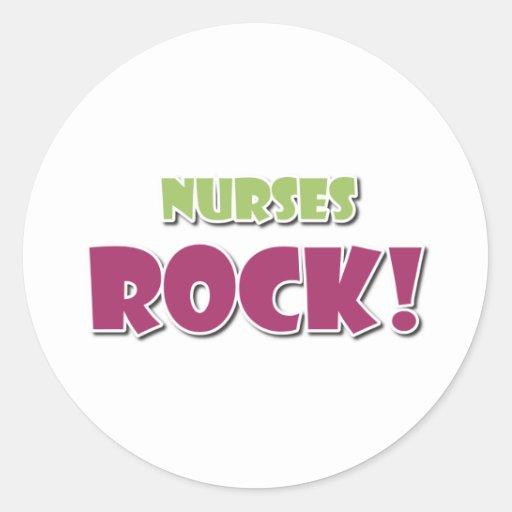Nurses Rock! Round Sticker