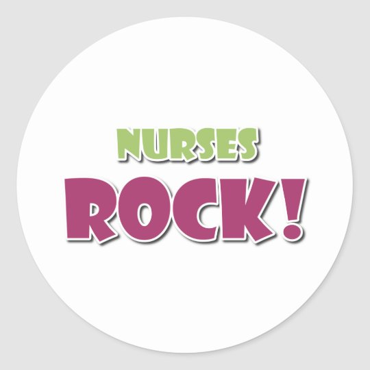 Nurses Rock! Round Sticker
