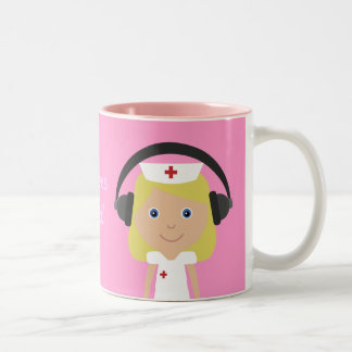 Nurses Rock! Two-Tone Coffee Mug