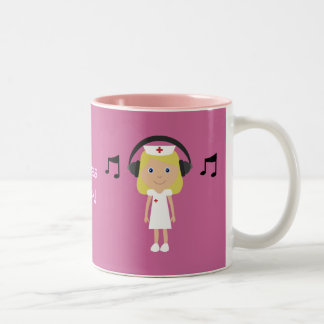 Nurses Rock! Two-Tone Coffee Mug