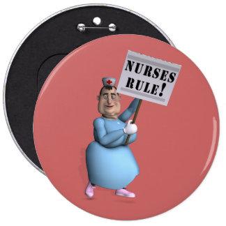 Nurses Rule! 6 Cm Round Badge