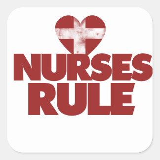 Nurses Rule Square Sticker