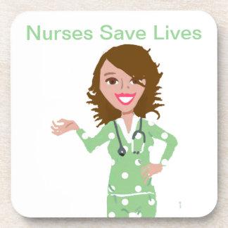 Nurses Save Lives Coaster