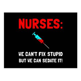 Nurses Sedated Postcard
