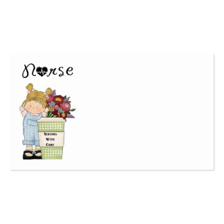 Nurses Serving With Care Business Card Template