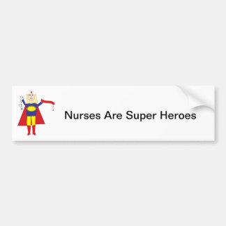 Nurses Super Hero Bumper Sticker