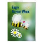 Nurses Week Cute Bees and Daisies Card