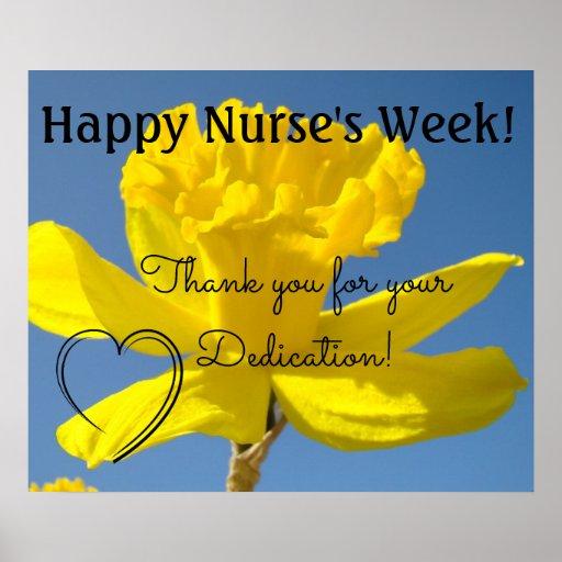 Nurse's Week oosters Thank you Dedication RN Poster