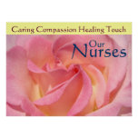 Nurse's Week posters Pink Rose Our Nurses Healing