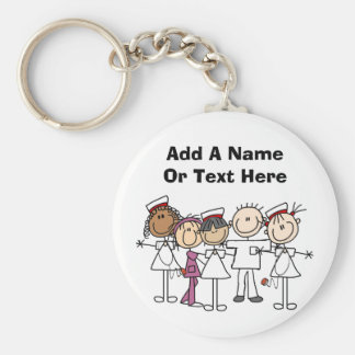 Nurses Week T-shirts and Gifts Basic Round Button Key Ring