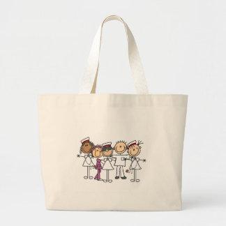 Nurses Week T-shirts and Gifts Large Tote Bag