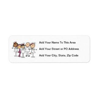 Nurses Week T-shirts and Gifts Return Address Label