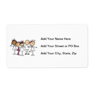 Nurses Week T-shirts and Gifts Shipping Label