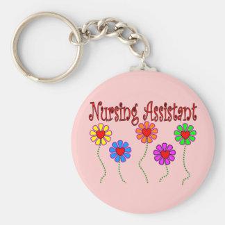 Nursing Assistant Gifts--Floral Design Keychains
