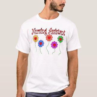 Nursing Assistant Gifts--Floral Design T-Shirt