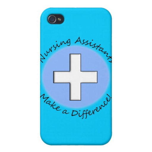 """Nursing Assistant Gifts """"Making a Difference"""" Cases For iPhone 4"""