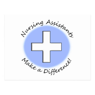 """Nursing Assistant Gifts """"Making a Difference"""" Postcard"""