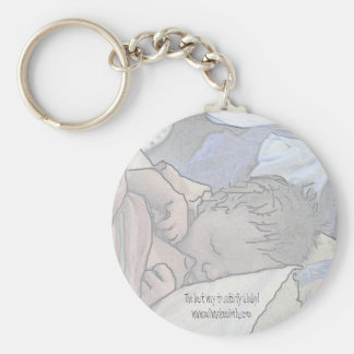 Nursing Baby Basic Round Button Key Ring