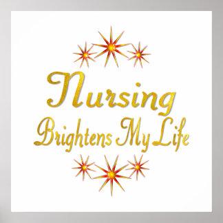 Nursing Brightens My Life Posters