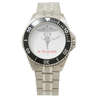 Nursing Caduceus Personalized Watch