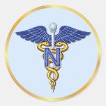 Nursing Caduceus Round Sticker