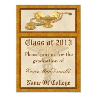 "Nursing Graduation Invitation 5.5"" X 7.5"" Invitation Card"