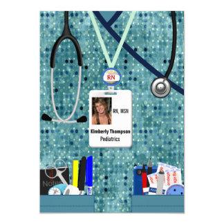 Nursing Graduation Invitation Blues