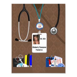 Nursing Graduation Invitation in Browns