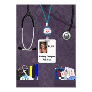Nursing Graduation Invitation Lavender