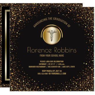 Nursing Graduation Party   Gold Pinning Ceremony Card