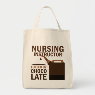 Nursing Instructor (Funny) Chocolate Grocery Tote Bag