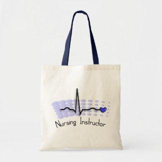 Nursing Instructor QRS Blue Budget Tote Bag