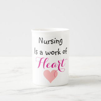 Nursing is a work of heart Mug