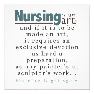 Nursing is an Art Graduation Announcement