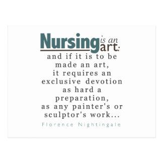 Nursing is an Art Graduation Announcement PostCard